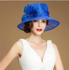 hotsale elegant dress hat fashion sinamay women church hats for