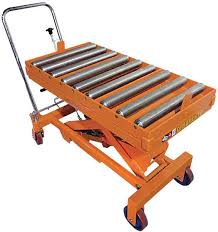 Hydraulic Scissor Lift Table by Stromberg Conveyor Roller Top Hydraulic Scissor Lift Table