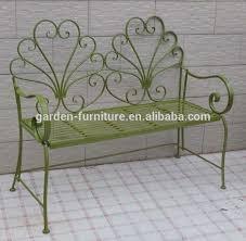 Cream Garden Bench Handmade Craft Outdoor Furniture Park Decor Cream Ornate Wrought