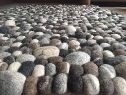 pebble rug pebble rug stone felt ball rectangular rug natural felt ball rugs