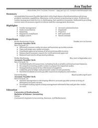 Best Accounting Resume Accounts Payable Resume Example Resume Example And Free Resume Maker