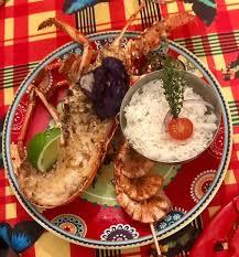 cuisine langouste plancha 1 2 langouste à la plancha picture of chez margaux le gosier