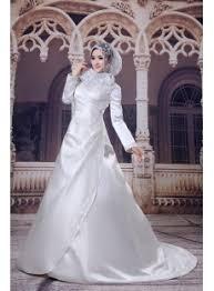 wedding dress muslimah satin a line muslim bridal gown 1st dress