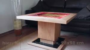 Wohnzimmer Tisch Hoch Neue Technologie Tisch Elektrisch Höhenverstellbar Youtube