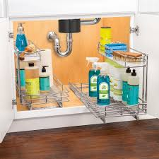 lynk under cabinet storage lynk professional pull out under sink drawer 2 tier sliding