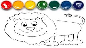 lion puzzle coloring book coloring pages for children learn