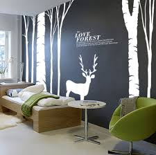compare prices on birch tree wall decal forest online shopping large birds birch tree buck wall stickers forest wall decal home decor decoration wts008