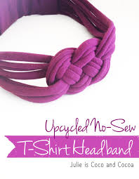 cheap headbands upcycled no sew knotted t shirt headband ads upcycle and reuse
