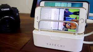charging station organizer satechi 6 port customizable media organizer desktop charging