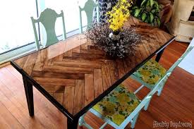 making a wood table top wooden herringbone table with tapered legs reality daydream