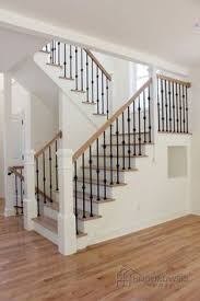 U Stairs Design The Beautiful U Shaped Stair Has Hardwood Treads And Handrails