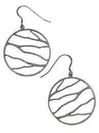 vire earrings organic branch wire earrings