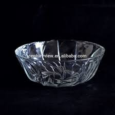 wholesale clear large decorative round glass fruit bowl buy