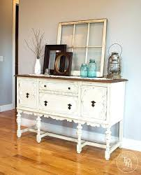 antique white buffet table sideboard tables buffets sideboard buffet hutch chalk paint makeover