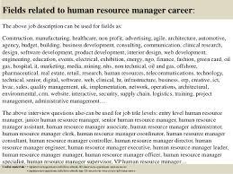 Hr Manager Resumes Hr Manager Job Description Job Description Vacancy For Assistant