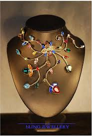 coloured crystal necklace images Reduced twisted wire multi coloured crystal necklace no 3 jpg