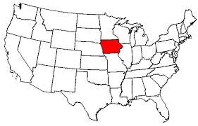 map usa iowa reference map of iowa usa nations project state map of