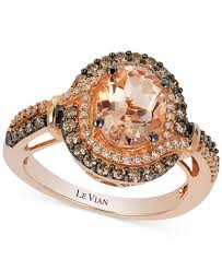 levian engagement rings le vian morganite 1 1 5 ct t w and diamond 1 2 ct t w