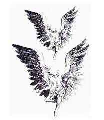 aliexpress com buy 2pcs big wings tattoo design angel wings