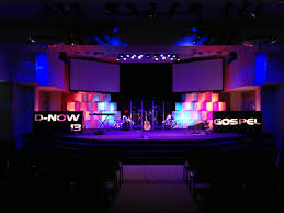 logos and boxes church stage design ideas