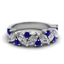 sapphire and wedding band buy stunning sapphire wedding bands for fascinating diamonds