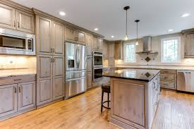 gray brown stained kitchen cabinets rustic kitchen design ideas lone tree co custom kitchen