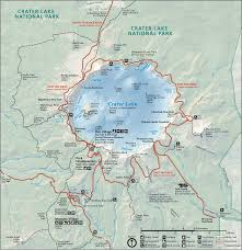 map of oregon near crater lake northwest hiker presents hiking in the crater lake national park