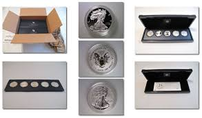 American Silver Eagle Th Anniversary Set Photos Latest Values - Silver eagle furniture
