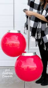 Ornament Chandelier Diy by Best 25 Large Outdoor Christmas Ornaments Ideas On Pinterest