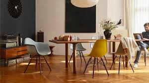 Mustard Dining Chairs by Vitra Eames Plastic Chair