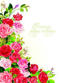 Birthday Cards Happy Birthday Flowers Greeting Cards 02 Vector Birthday Vector