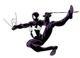 black suit spiderman color v1 jonin shinobi deviantart