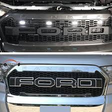 Popular Novo Carro Stlying Grelha Para Ford Ranger 2015 2017 ABS Frente  @HE64