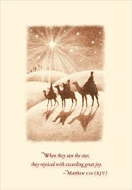 wise men following star religious christmas card by designer greetings