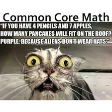 Common Core Meme - common core math if you have 4 pencils and 7 apples how many