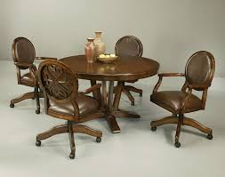 Best Swivel Tilt Caster Dining Sets Images On Pinterest - Dining room chairs with rollers