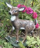 deer concrete statues buck doe fawn