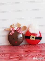 diy rudolph and santa painted ornaments kidsomania