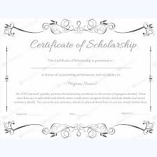 templates for scholarship awards scholarship certificate etame mibawa co