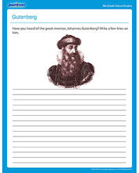 gutenberg u2013 free social studies printable worksheets for fifth