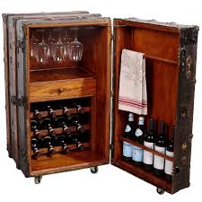Wine Bar Cabinet Vintage Steamer Trunk Wine Bar Cabinet Fatto A Mano Antiques