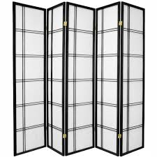 Privacy Screen Room Divider 6 Ft Black 3 Panel Japanese Room Divider Ssfwsc04 3p Blk The