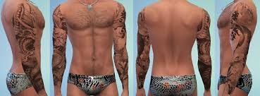 mod the sims tattoos full sleeves four styles