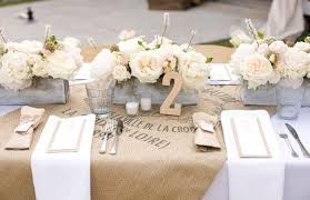 chemin de table mariage mariage toile de jute toile de jute jute et chemins de table