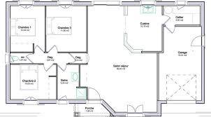 plan de maison en l avec 4 chambres modele plan maison plain pied gratuit 5 chambres 0 etage systembase