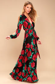 sleeve maxi dress lovely black floral print maxi sleeve maxi dress