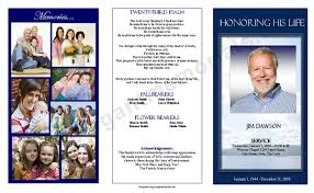wording for funeral program trifold funeral program sle funeral program exle