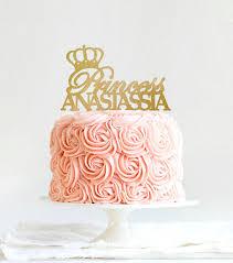 princess cakes princess cake topper personalized tiara cake topper birthday