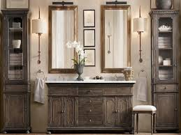Bathroom Vanity Makeup Area by Bathrooms Design Restoration Hardware Keller Sconce Bathroom