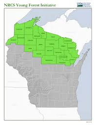 Northern Wisconsin Map by Young Forest Initiative Open In Northern Wisconsin Nrcs Wisconsin